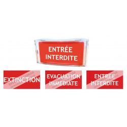 Impression plan d'evacuation sur plexiglas A5