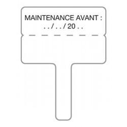 Etiquette de maintenance pour DAAF